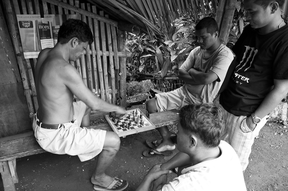 a friendly game of chess along the highway