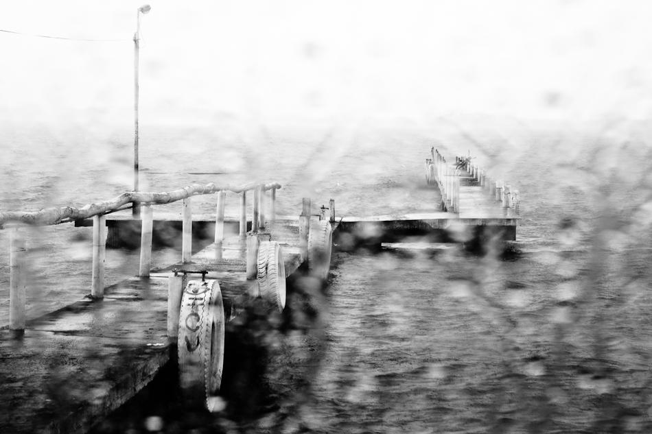 raindrops on a pane