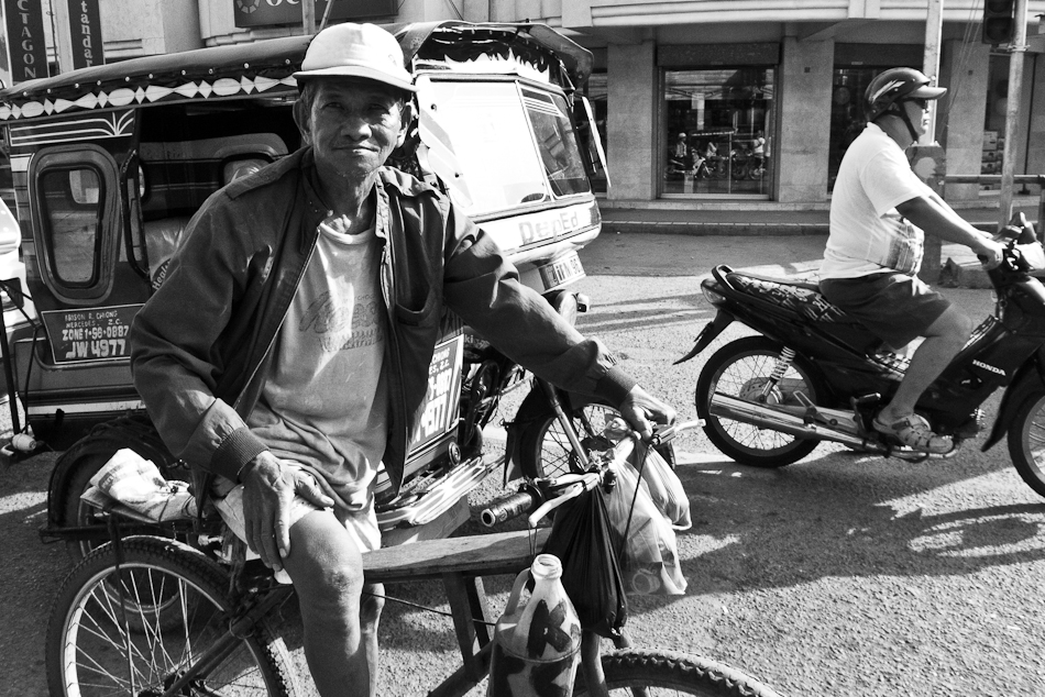 an old biker on an old route