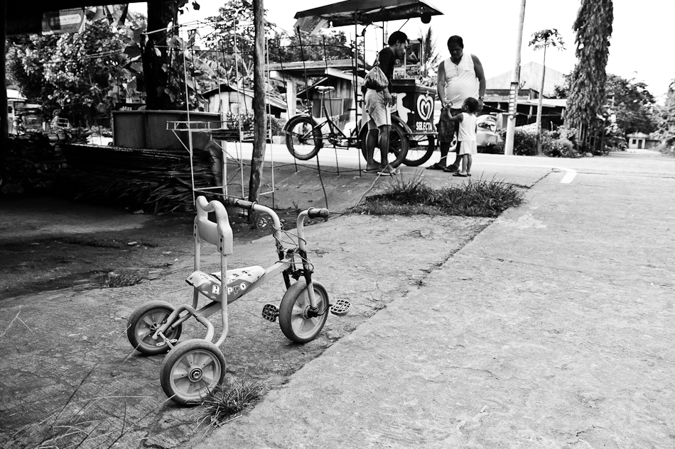 a kid's trike left for an ice-cream trike