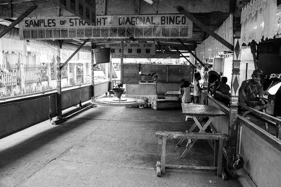 empty bingo stall