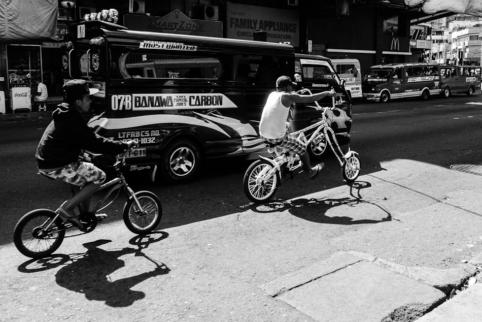 chopper bike on the streets of Cebu